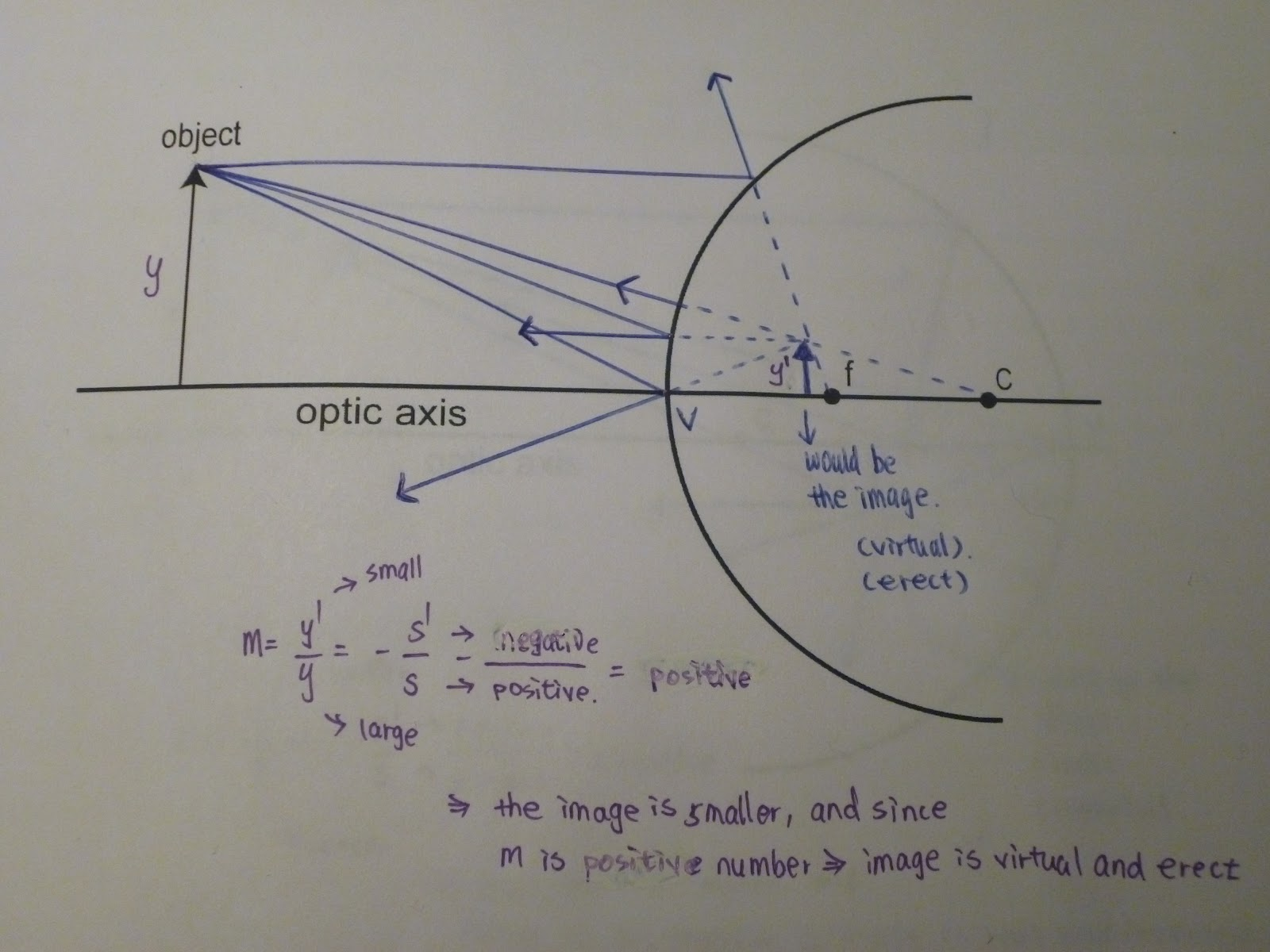 Free Worksheets ray diagrams for plane mirrors worksheet : Physics 4C fmlin: Experiment 9 --- Concave and Convex Mirror