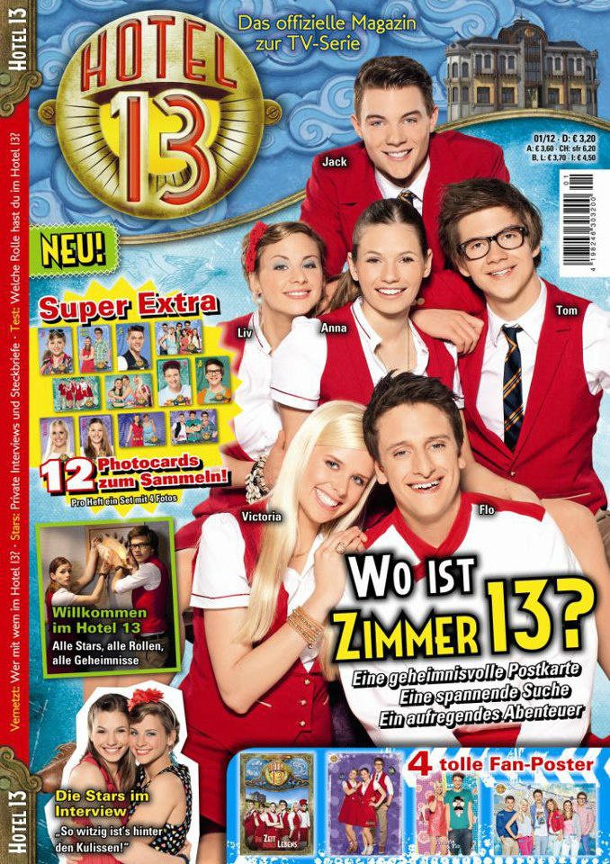 "Magazine Of ""Hotel 13"" In Europe On Tuesday 25th September 2012"