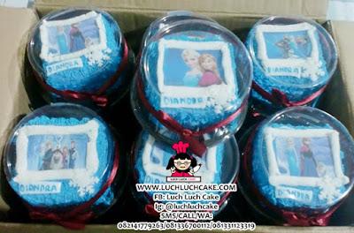 Mini Cake Frozen Elsa, Anna, Olaf Souvenir Ulang Tahun