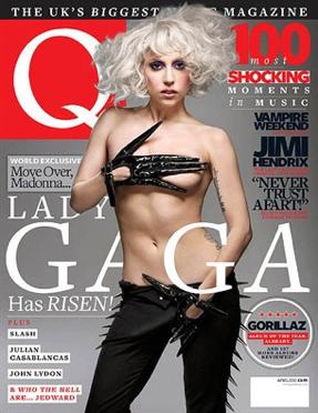 LADY GAGA Q MAGAZINE COVER