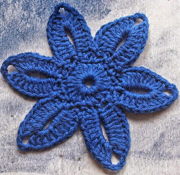 Flor al crochet explicada paso a paso con fotos | Crochet y Dos ...