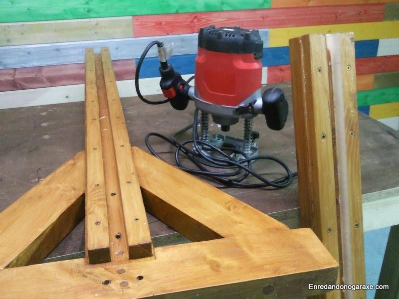 Arreglando la valla de madera. Enredandonogaraxe.com