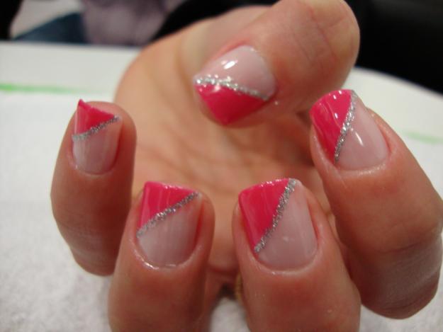 decoracao em unha branca : decoracao em unha branca:Art em Unhas.: Espanhola – rosa e branco.