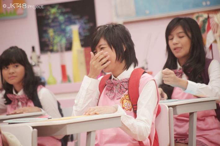 Ghaida JKT48 at JKT48 school