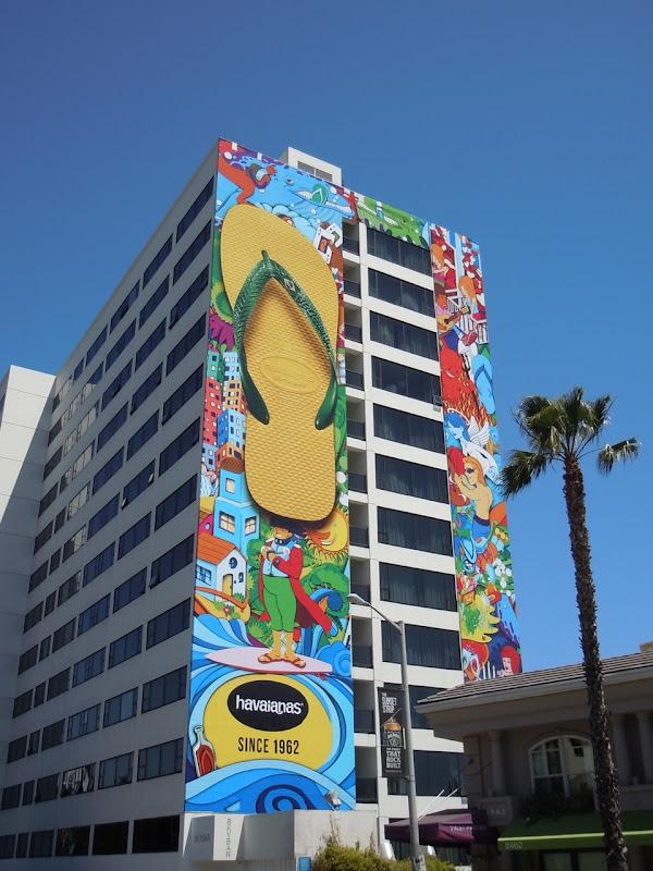 Havaianas flip flop billboard Sunset Strip