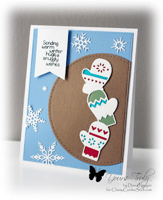 Diana Nguyen, Poppystamps, Impression Obsession, winter, mitten
