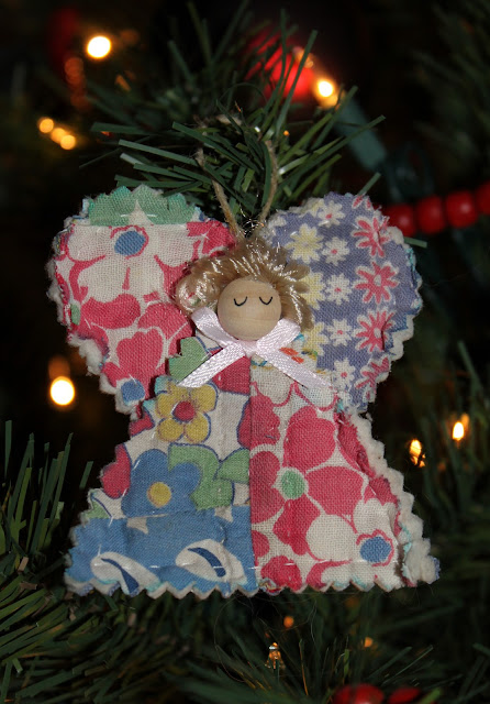angel from old quilt