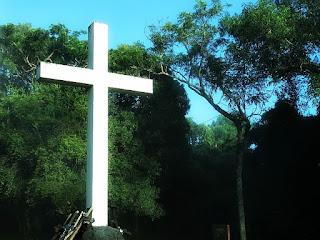 Cruz no cemitério de Corpus Christi, Argentina.