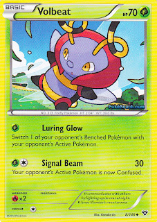 Volbeat Pokemon X and Y Card