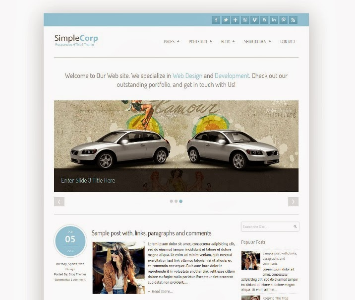 SimpleCorp Responsive Blogger Template