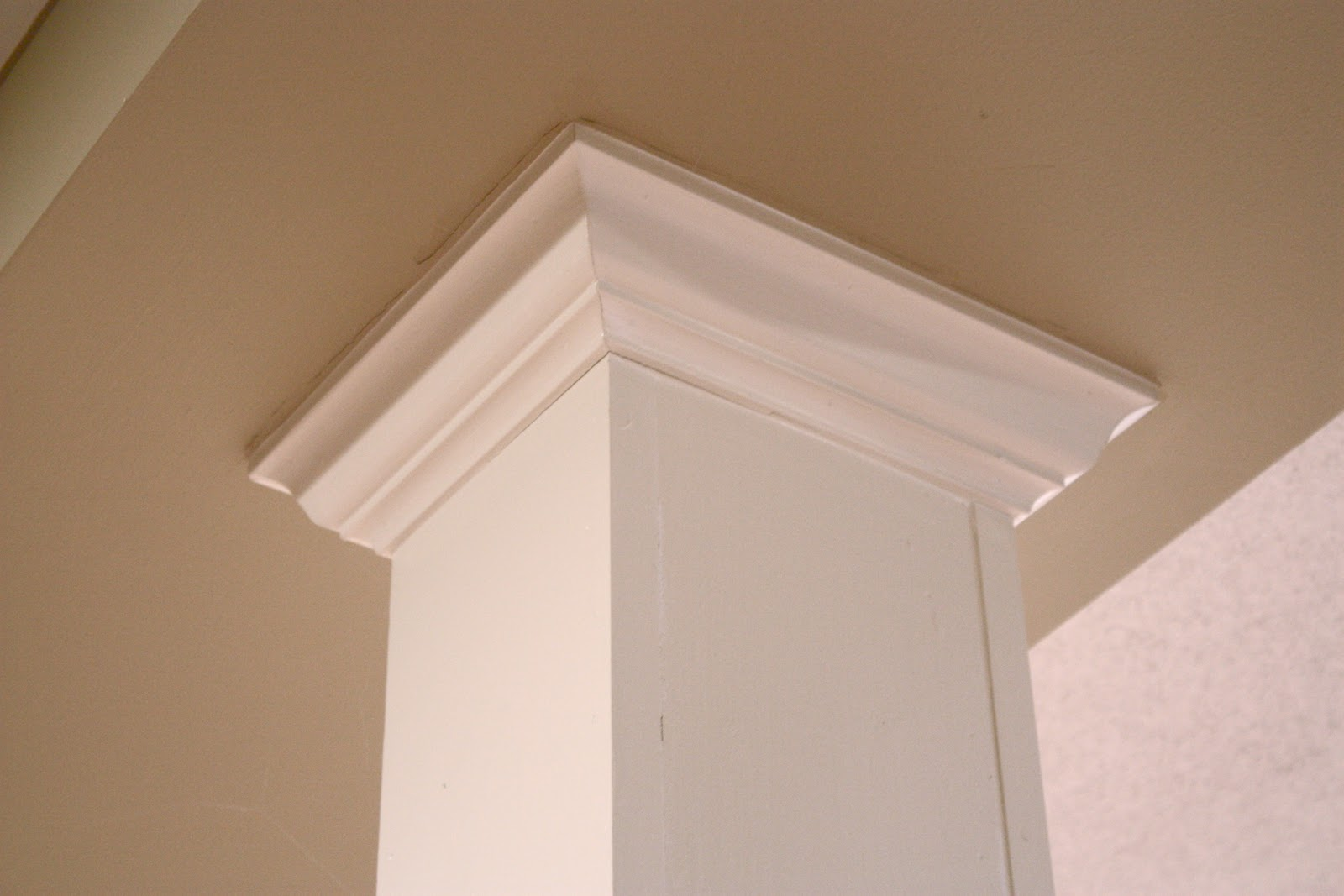 Column Molding Ideas The Yellow Cape Cod 31 Days Of Character Building Diy Basement