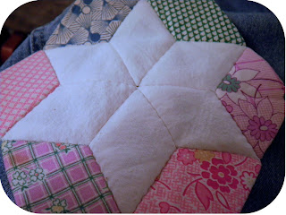 Vintage English Paper Piecing Diamonds