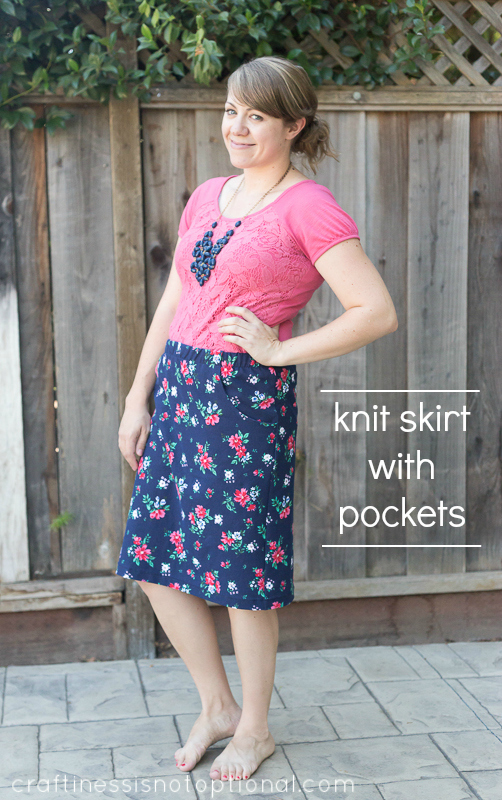 Knit Skirt With Pockets Tutorial And Free Pocket Pattern