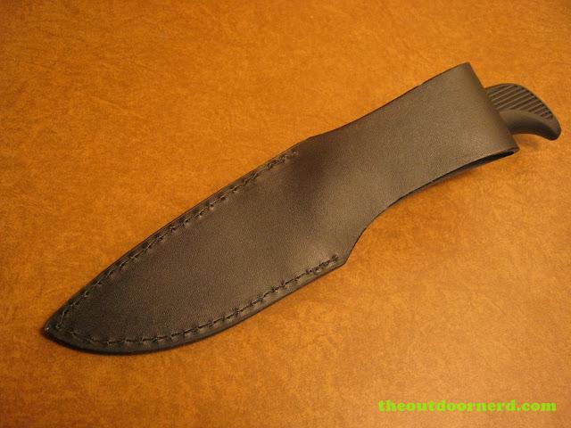 Kershaw Bear Hunter II closeup of sheath - back