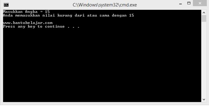 Pernyataan If Pada C++