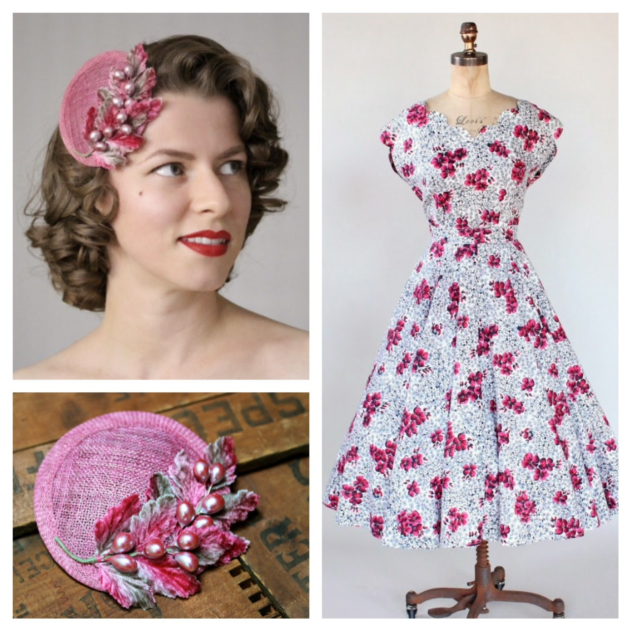 Berry Bliss - 40s/50s fashion pairings #1940s #fashion #1950s #dress #pink