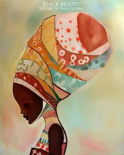 Mujer Africana Cuadro