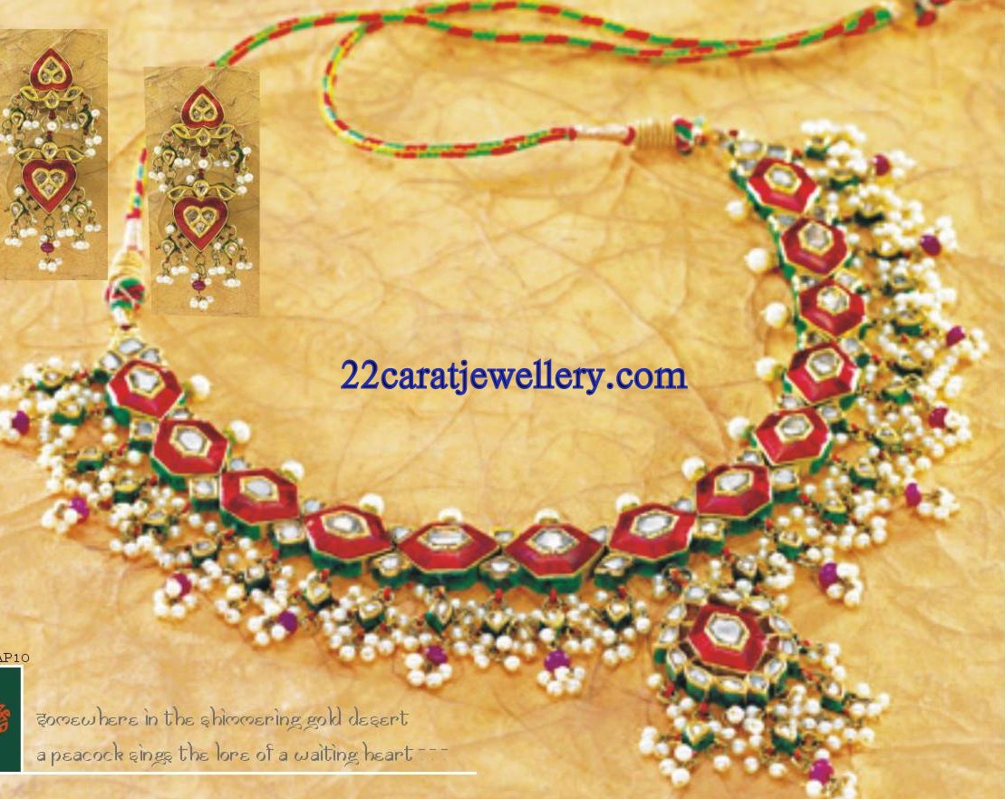 Tanishq Kundan Necklace Set Gallery - Jewellery Designs