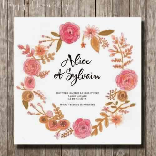 Invitation mariage fleur