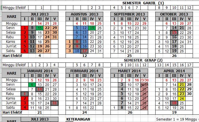 Kalender pendidikan merupakan pengatur waktu dalam kegiatan ...