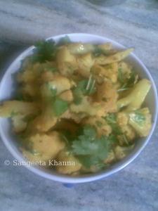 sukhi aalu gobhi
