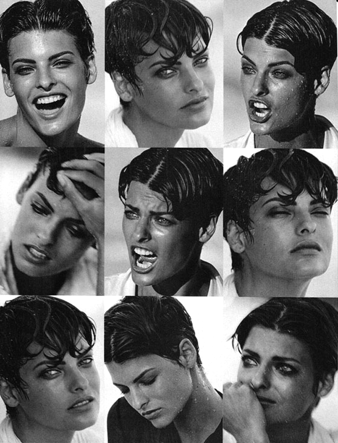 Linda Evangelista in Storia di una Bellezza / Vogue Italia December 1989 (photography: Peter Lindbergh) / Fashioned by Love British fashion blog.