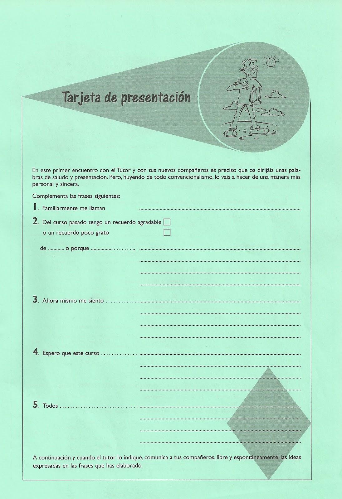 Plan de Acción Tutorial en 1º de Bachillerato: Sesión 1. Acogida y ...