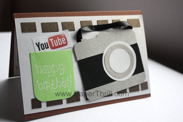 Handmade Camera Birthday Card With Youtube Logo