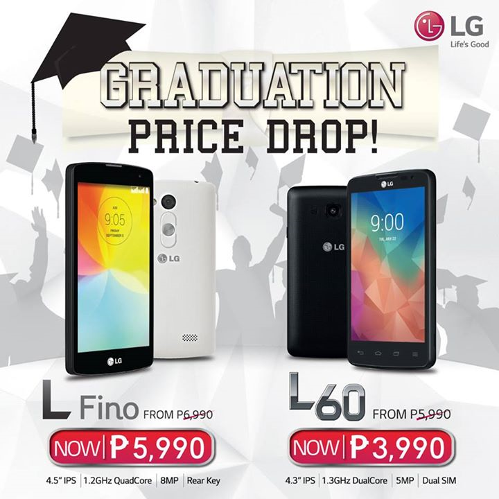 LG L Fino and L60 Graduation Price Drop