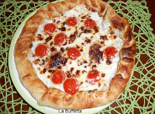 torta salata stracchino e pomodorini