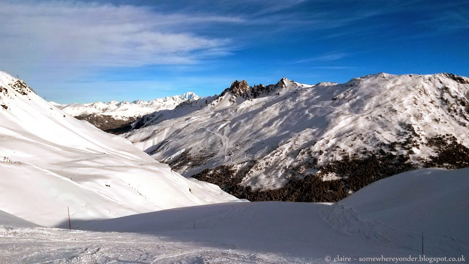 Beautiful scenery in Val Thorens, France