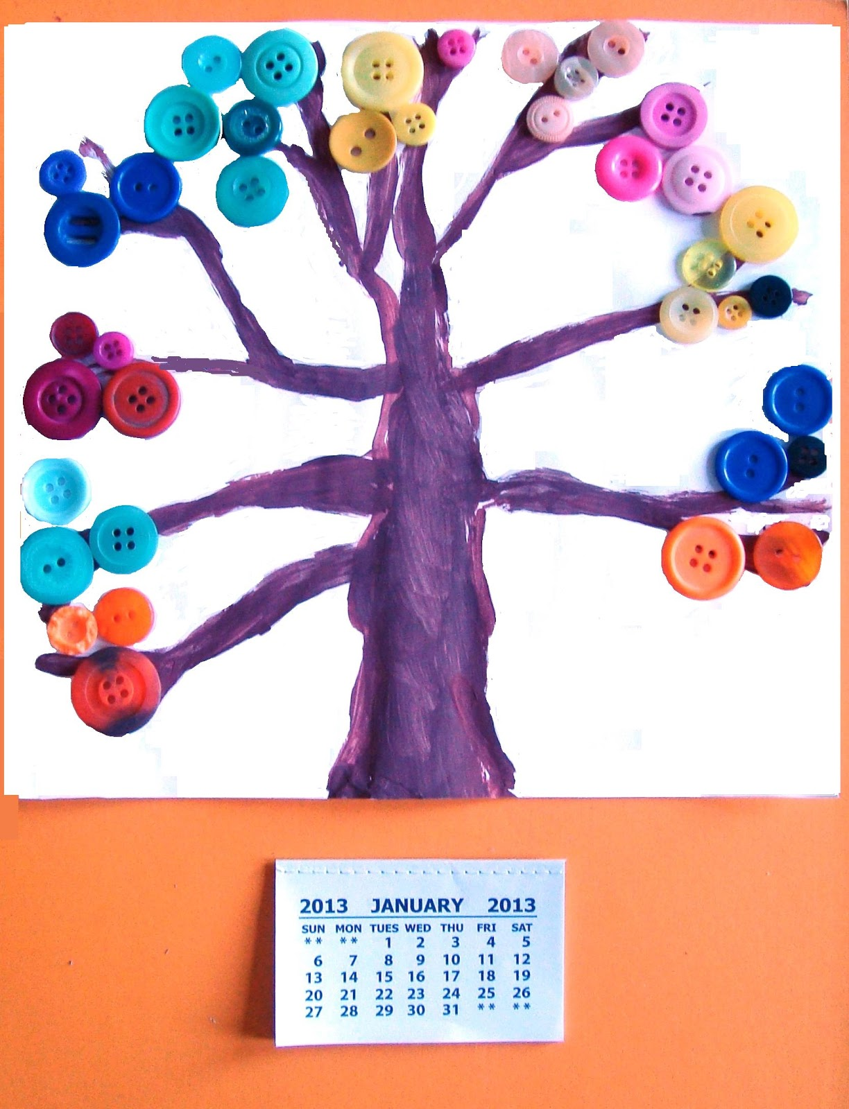 Calendar For Kids To Make : Rainbow creations art and craft for children