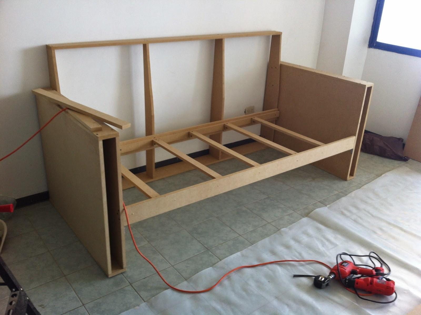 Lo hice en casa sof cama d plex for Como hacer un sillon con una cama