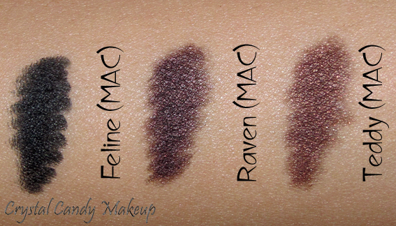 Kohl Power Raven de MAC (Collection Glamour Daze) vs Feline, Teddy