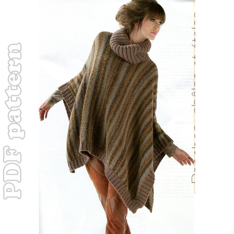 Free Knitting Pattern For A Poncho : PATTERN FOR CHILD PONCHO - FREE PATTERNS