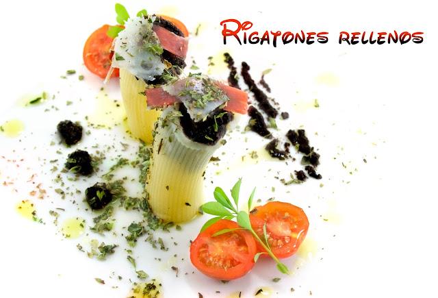rigatone, recetas originales, recetas saludables, olivada, pasta, recetas de cocina, jamon iberico, queso parmesano, aperitivos, quesos