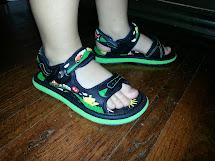 Boys Feet Wearing Sandals