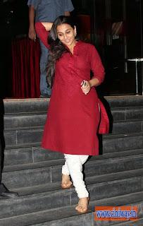 Vidyabalan Latest Stills in Red Salwar