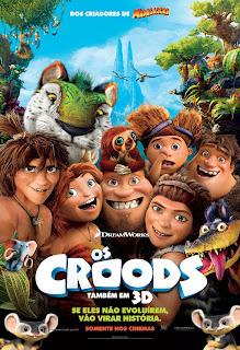 Pôster nacional e crítica de OS CROODS (The Croods)