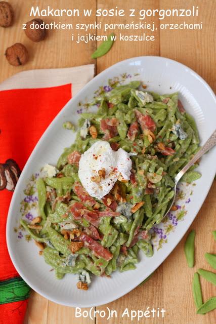 makaron szynka parmeńska gorgonzola przepis