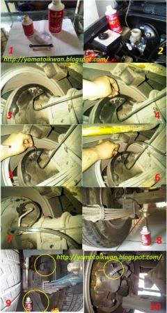 mengganti minyak rem