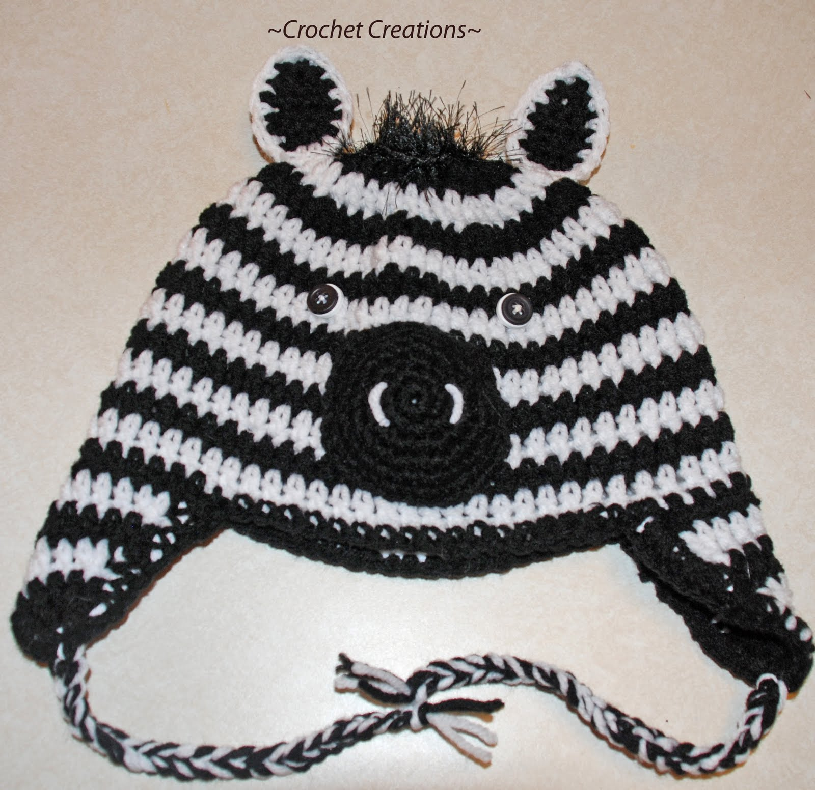 Crochet Pattern Zebra Hat : ANIMAL PRINT CROCHET PATTERN Crochet Patterns