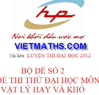 de thi thu dai hoc mon ly nam 2012