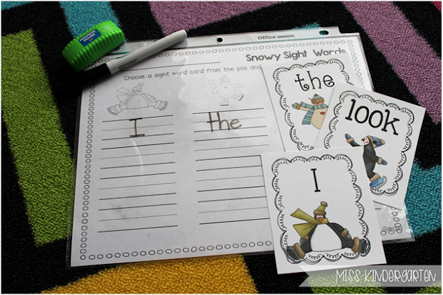 Miss Kindergarten {snowy sight words}