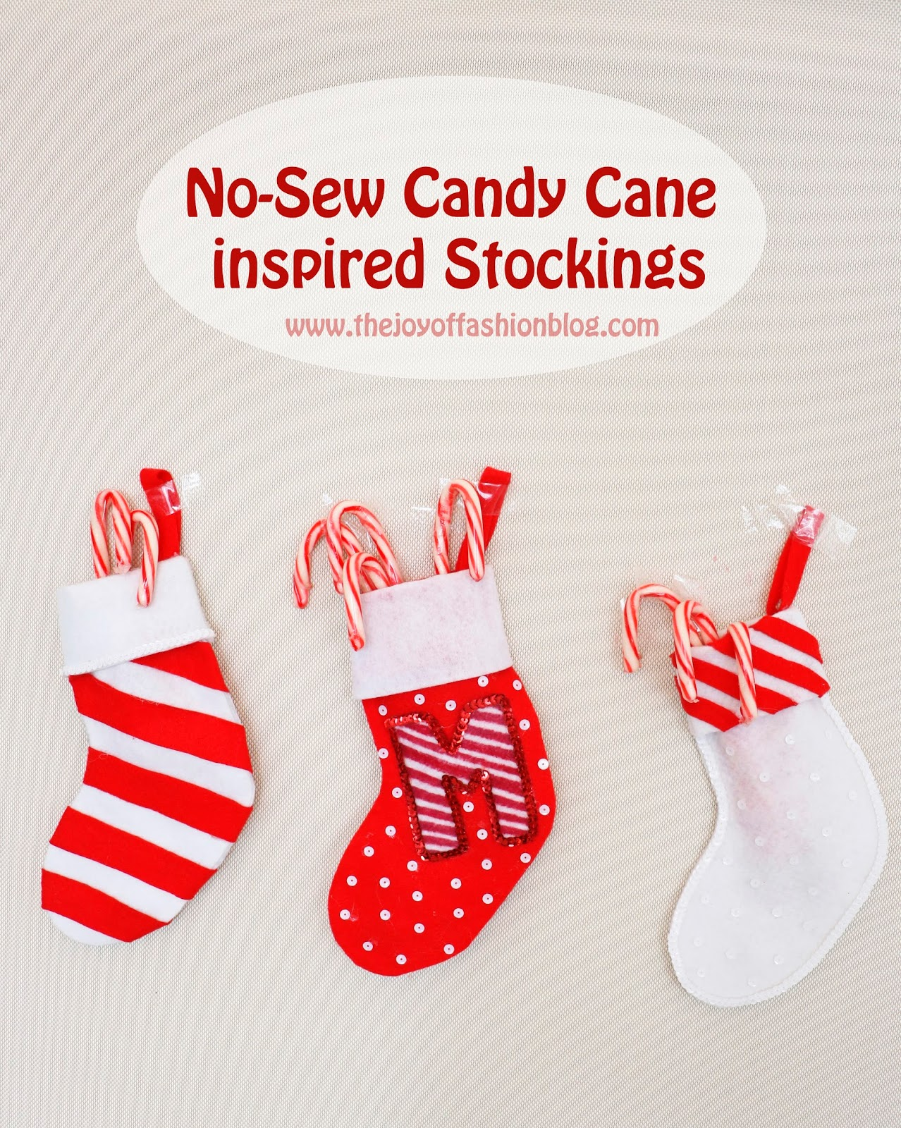 These no-sew stockings are so cute and super easy to make!