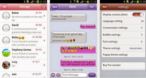 Aplikasi SMS Seperti iPhone Di Android