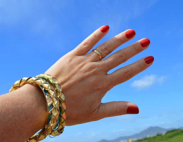 Unhas da Jana! Esmalte, nail, vermelho, seta vermelha, colorama, blogger, blogueira, joinville, Unhas da Jana!