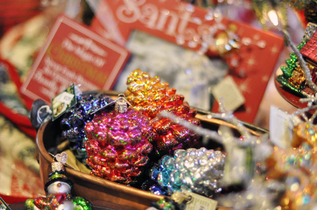 glittered ornaments
