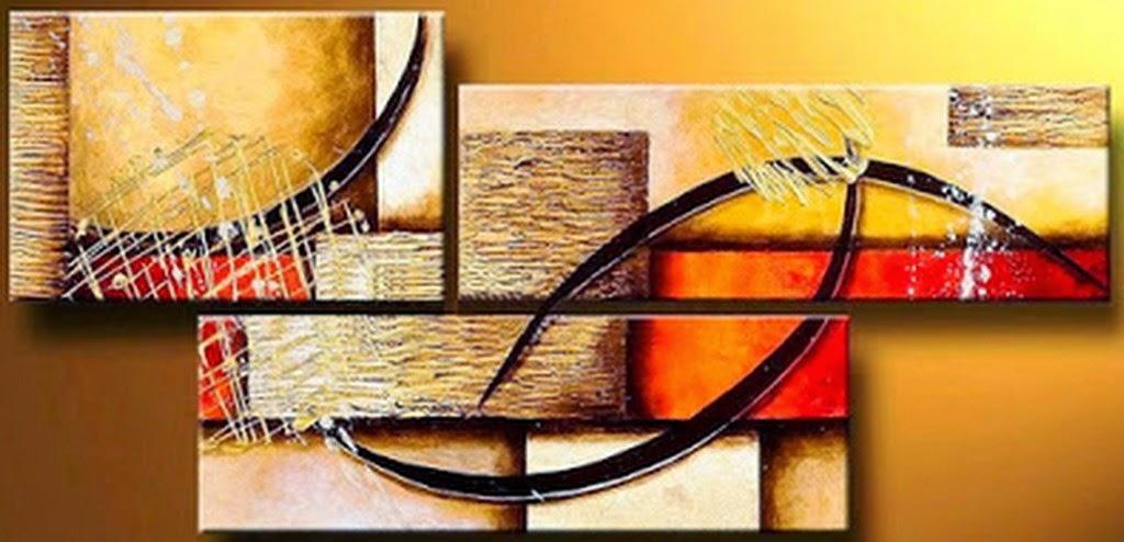 Cuadros modernos pinturas y dibujos cuadros tr pticos - Cuadros de interiores ...