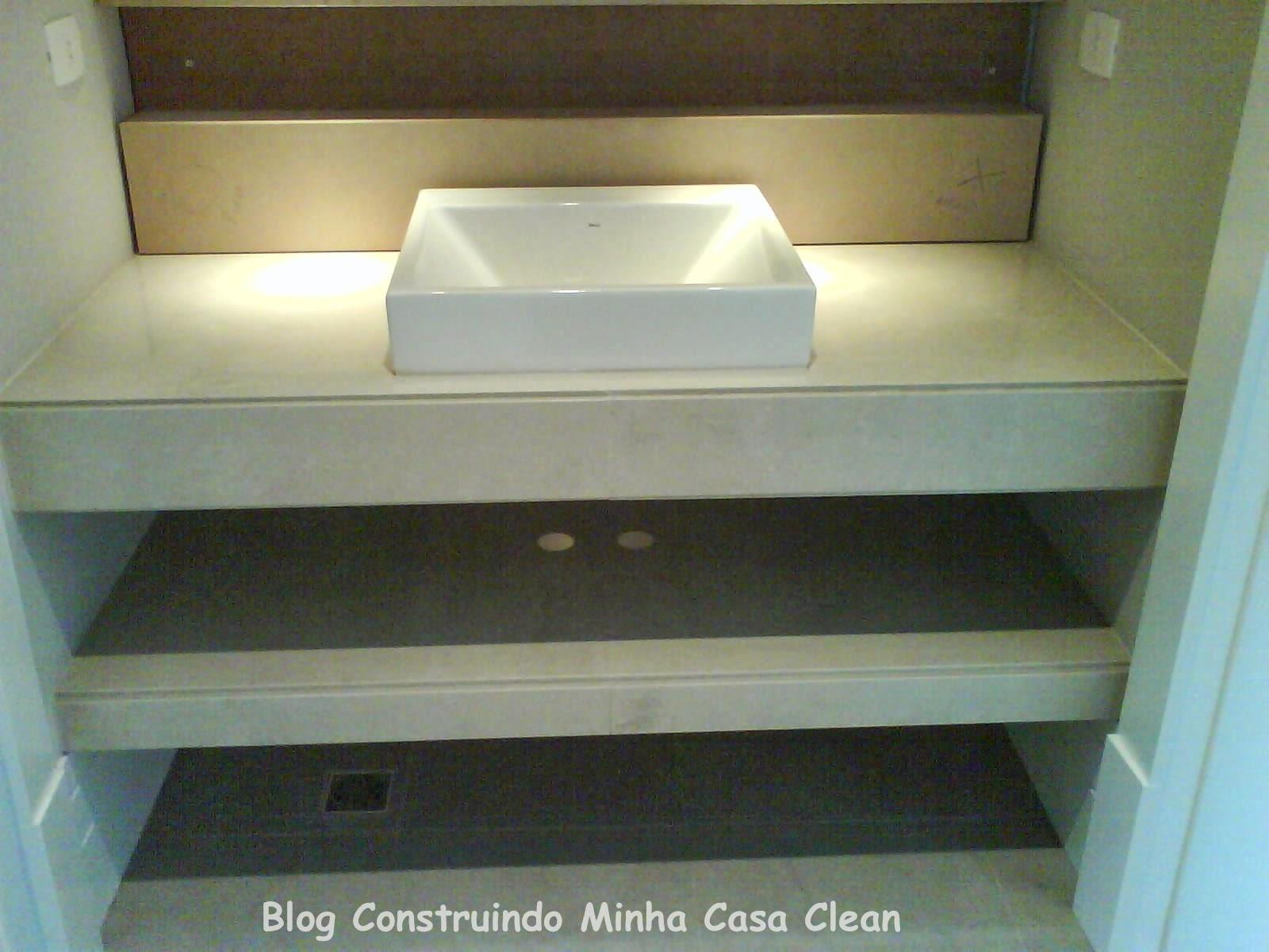 Construindo Minha Casa Clean: A Beleza das Bancadas de Porcelanato! #427D89 1600x1200 Banheiro Bancada Porcelanato